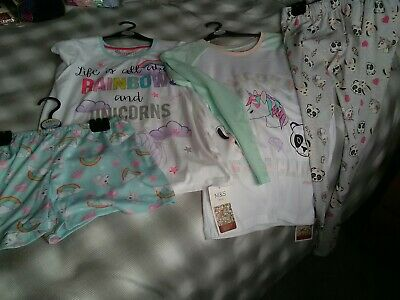 2 New Pairs Girls Marks & Spencer Pyjamas Size 13 -14 Yrs  Chest 34.5""