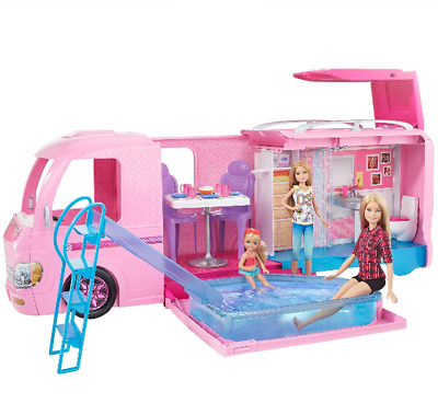 Barbie DreamCamper Adventure Camping Playset with Accessories, New Mattel