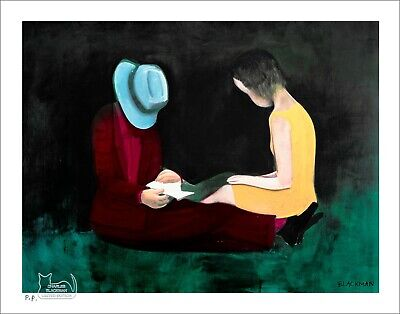 "CHARLES BLACKMAN ""Afternoon Light"" Printers Proof Print PP 28cm x 37cm"