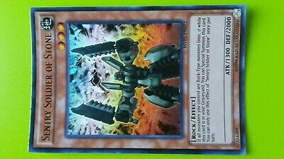 Sentry Soldier of Stone Earth Rock Effect Holo Rare Holographic Yugioh Card Game