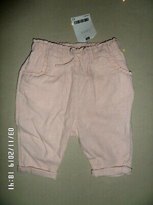 New With Tags Next Baby Girls Pink Trousers 3-6 Months