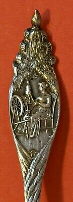 Betsy Ross Daughters American Revolution Sterling Silver Souvenir Spoon Durgin