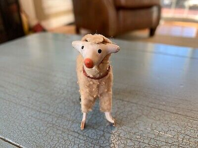 Putz Sheep Wooly Stick Leg Germany German Composition Antique Nativity Toy