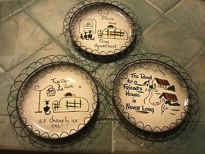 starnes decorative vintage plates hand made with hangers