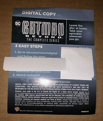 Batman Beyond The Complete Series WB DC HD Digital Code ONLY