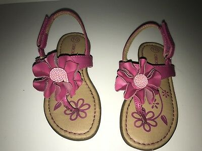 Pink//Coral Flowers NEW Toddler Girls Cherokee Jera Sandals Various Sizes!