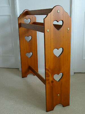 Attractive Wooden Quilt Stand - lovely timber