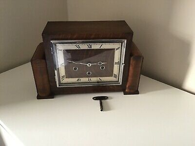 Antique Art Deco Mantel Clock By Schatz Rombach Germany Westminster Chiming.