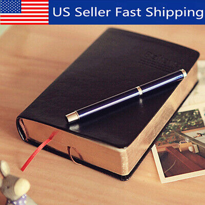 1Pc Retro Notebook Journal Diary Sketchbook Leather Cover Thick Blank Pages US!