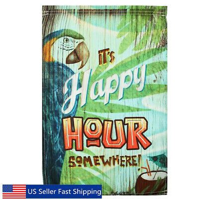 12x18 Happy Hour Cocktail Pennant Garden Flag FAST USA SHIPPING