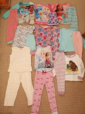 Girls Age 5-6 Years Nightwear PJs Pyjamas Bundle Frozen Moana Gruffalo 9 Sets