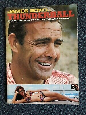 James Bond in Thunderball, Dr No, From Russia with Love & Goldfinger. 1965