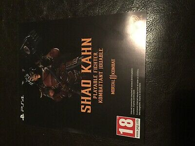 Mortal Kombat 11 PS4 SHAO KAHN character code Not available to buy in the shop