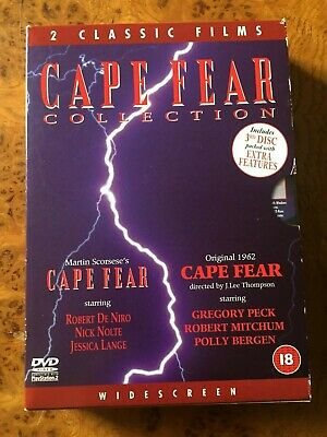 Cape Fear [1961 and 1991] Robert Mitchum – Gregory Peck 3 x DVD Box Set