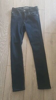 H&M Skinny Jeans Blue Age 12-13 Years Adjustable Waist