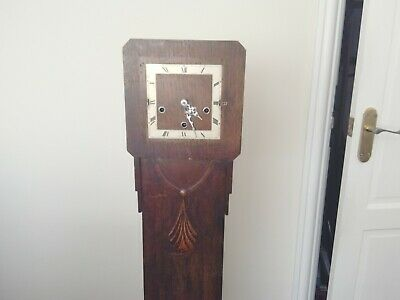 ANTIQUE GRANDMOTHER ENGLISH CLOCK ( CHIMES ) 1920/30s