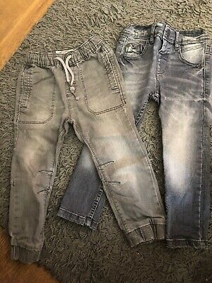 NEXT boys Jeans 2 Pairs Grey Skinny And Cuffed Age 2-3 Years