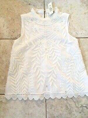 BNWT river island Girls cream lace highly decorative blouse age 11