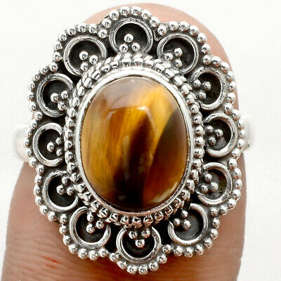 S139 Sterling Silver Antique Filigree Ring with 6 Carat Mystic Topaz Gemstone