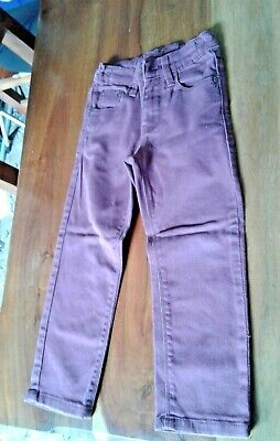 Boys Burgundy Red Jeans Age 5 Years Duck & Dodge