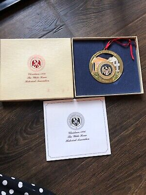 White House Historical Association Christmas Ornament With Box 1996