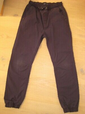 Boys Next navy blue casual trousers with elasticated waist & ankles Age 12yrs