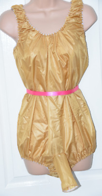 Super double satin silky teddy nappy crotch rompers with sleeve XL BN SSX 6