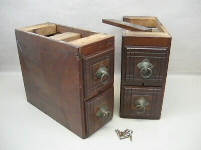 Antique 1883 Singer Fiddle Head Treadle Sewing Machine Double Drawers Restore