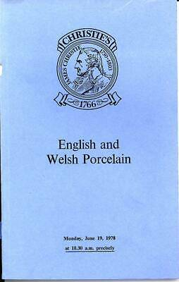 Christie's Sale catalogue of English and Welsh Porcelain June 1978