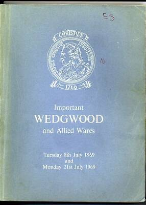 Christie's Sale catalogue of Important Wedgwood and Allied Wares July 1969