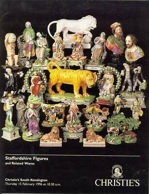 Christie's Catalogue of Staffordshire Figures and Related Wares February 1996