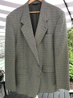 Mark Shale Multi-Color Checked Medium Wool Sport Coat Mint Condition Size 46 L