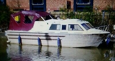 Shetland Teal Canal Boat / Narrowboat 24ft Cabin Cruiser., Honda 15 HP Outboard