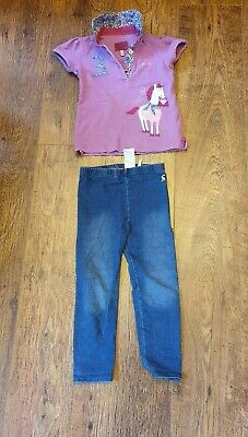 Joules Polo Shirt And Jeggings. In Very Good Condition. Aged 2-3 Years