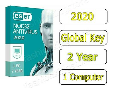 2020 ESET NOD32 NOD 32 Antivirus 1 Computer User 2 years - KEY Instant Delivery