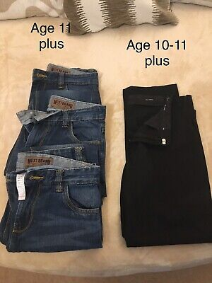 Boys Plus Size School Trousers & Jeans - Age 10-11, Next and Marks&Spencer