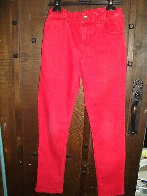 Benetton Boys Red Jeans, In Very Good Condition, Size 11-12 Years