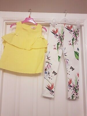 Girls Designer Ted Baker New Suit Outfit Set Top Leggings Age 7 Stunning
