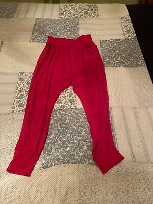girls next pink harem trousers age 10