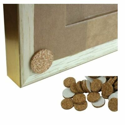SELF ADHESIVE CORK DISCS 12mm 19mm PICTURE FRAMING PHOTO FRAME FURNITURE PADS