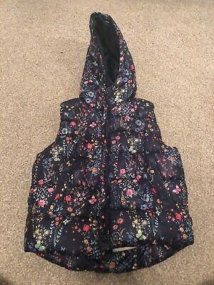 NEXT Girls Floral Gilet / Body Warmer - Age 4-5 Years