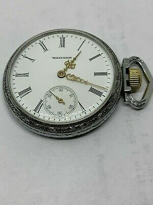Waltham 16s Grade 610 Hunting circa 1907 pocket watch running