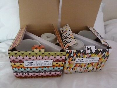 Viva Retro geometric cups and saucers by Sarah Campbell - BNIBs