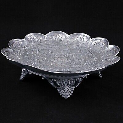 Victorian Aesthetic Movement silver plate card receiver James Tufts circa 1870
