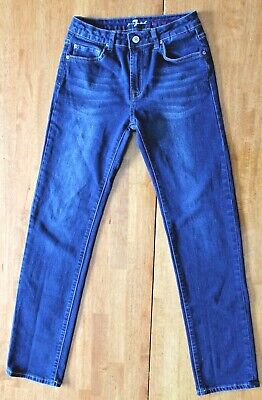 Boys 7 for All Mankind Size 14 slimmy dark wash jeans