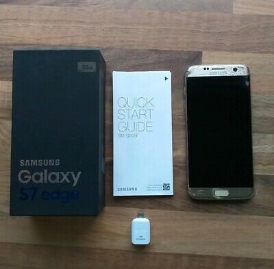 Samsung Galaxy S7 Edge 32gb Gold Platinum unlocked Smartphone boxed with manual