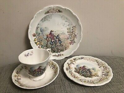 Royal Albert Wind In The Willows Autumn in Wild Wood Tea Plate Cup Saucer Set