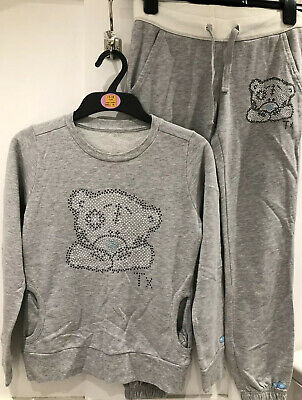 M&S Girls Tatty Teddy Sweatshirt And Sweatpants Age 11-12 Years