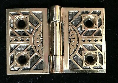 ONE Antique Ornate Cast Bronze Hinge Cabinets Shutters Cupboard c.1880s