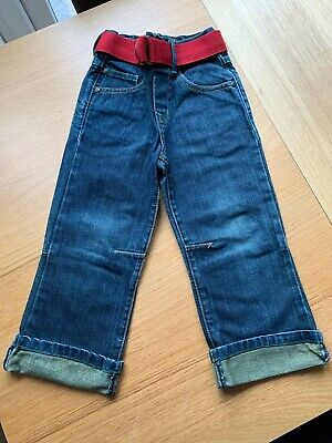 Boys Duffer St George Designer Jeans Baggy Style With Patches Debenhams Age 3-4